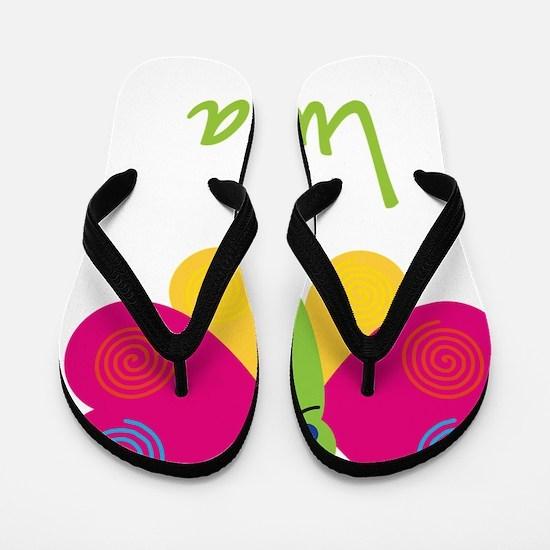 Lucia-the-butterfly Flip Flops
