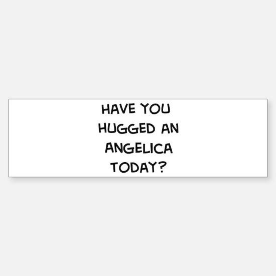 Hugged a Angelica Bumper Bumper Bumper Sticker