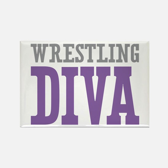 Wrestling DIVA Rectangle Magnet