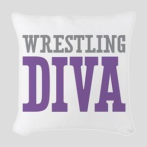 Wrestling DIVA Woven Throw Pillow