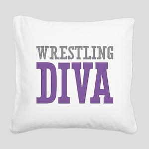 Wrestling DIVA Square Canvas Pillow