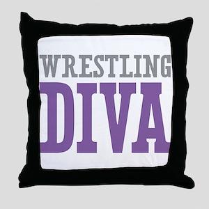 Wrestling DIVA Throw Pillow