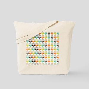 owlsinarow_pattern_mm_sq Tote Bag