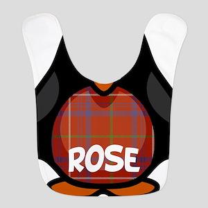 Rose Tartan Penguin Bib