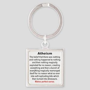 ATHEISM Square Keychain