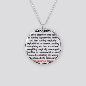 ATHEISM Necklace Circle Charm