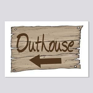 Vintage Outhouse Sign Postcards (Package of 8)