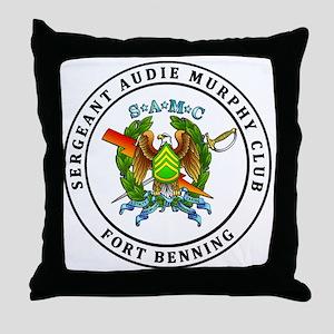 FT Benning SAMC Throw Pillow