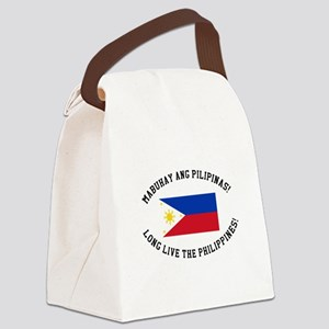 Long Live The Philippines! Canvas Lunch Bag