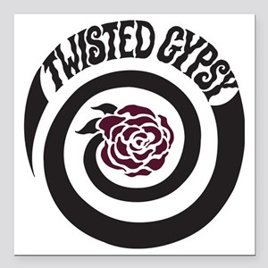 """twisted gypsy Square Car Magnet 3"""" x 3"""""""
