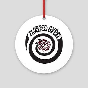 twisted gypsy Round Ornament