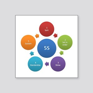 5S rules Sticker