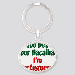 Bet Your Bacalhau Portuguese Baby Oval Keychain