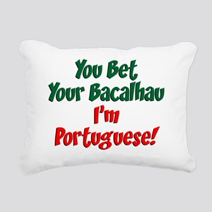 Bet Your Bacalhau Portug Rectangular Canvas Pillow