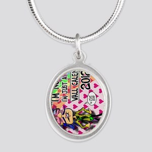 NOT-GAY-12-cover-VERT Silver Oval Necklace