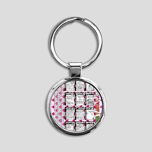 NOT-GAY-12-back-VERT Round Keychain