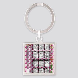 NOT-GAY-12-back-VERT Square Keychain