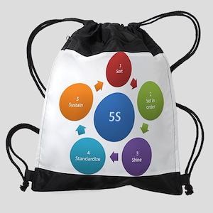 5S rules Drawstring Bag