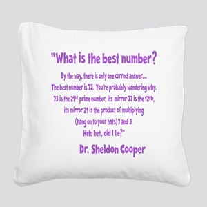 wh-lavendar, 73-quote overlap Square Canvas Pillow