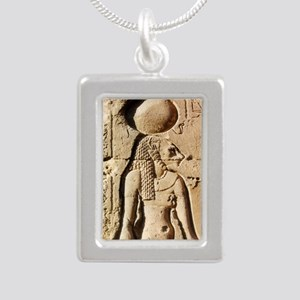 Sekhmet at Esna-shorter Silver Portrait Necklace