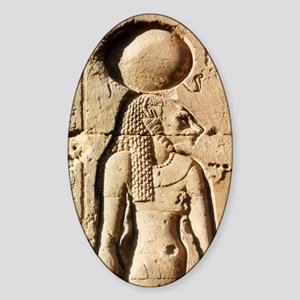 Sekhmet at Esna-shorter Sticker (Oval)