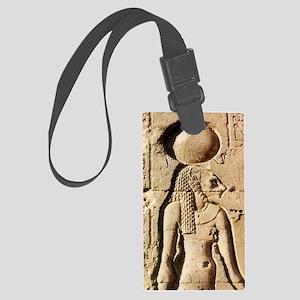 Sekhmet at Esna-shorter Large Luggage Tag