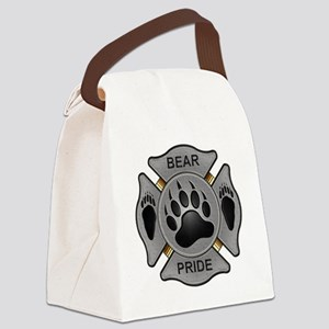 Bear Pride Firefighter Badge Canvas Lunch Bag