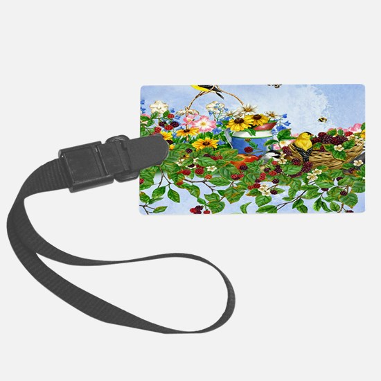Beautiful birds, busy butterflie Luggage Tag
