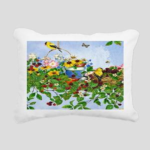 Beautiful birds, busy bu Rectangular Canvas Pillow