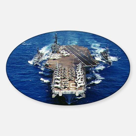 khawk cv lare framed print Sticker (Oval)