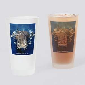 khawk cv framed panel print Drinking Glass