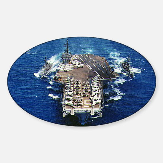 khawk cva lare framed print Sticker (Oval)