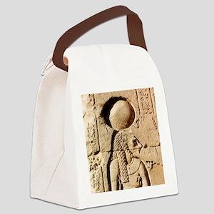Sekhmet at Esna-sqr Canvas Lunch Bag