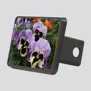 Multi Colored Pansies Rectangular Hitch Cover