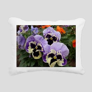 Multi Colored Pansies Rectangular Canvas Pillow
