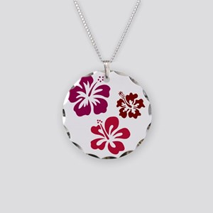 tshirt_redhibiscus Necklace Circle Charm