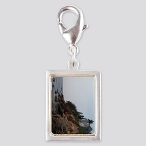 Bass Light keychain Silver Portrait Charm