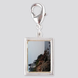 Bass Light keychain2 Silver Portrait Charm