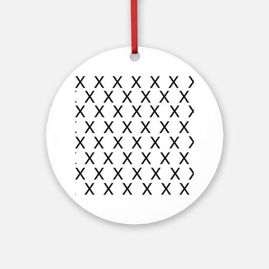 HELVETICA-X-no-words Round Ornament