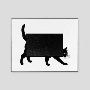 Black Cat on White Picture Frame