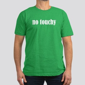 No Touchy Men's Fitted T-Shirt (dark)