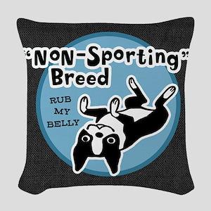 BOSTONTERRIERnonsportpillowgry Woven Throw Pillow