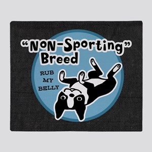 BOSTONTERRIERnonsportpillowgry Throw Blanket