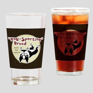 bostonnonsportingwallet Drinking Glass