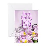 102nd birthday Greeting Cards