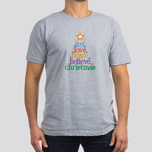 Joy Love Christmas Men's Fitted T-Shirt (dark)