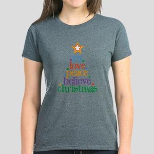 Joy Love Christmas Women's Dark T-Shirt