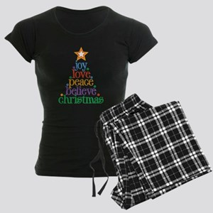 Joy Love Christmas Women's Dark Pajamas