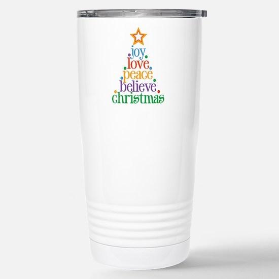 Joy Love Christmas Stainless Steel Travel Mug
