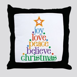 Joy Love Christmas Throw Pillow